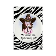 diva of a cowgirl Rectangle Magnet