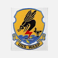 uss wasp cvs patch transparent Throw Blanket