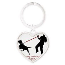 Dog Training - Jerk is Noun Heart Keychain
