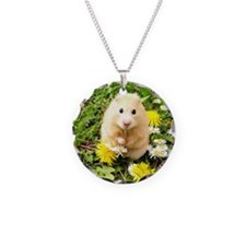 Golden syrian hamster on a s Necklace