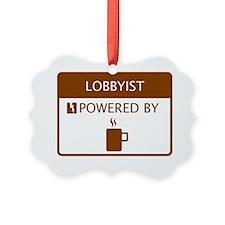 Lobbyist Powered by Coffee Ornament