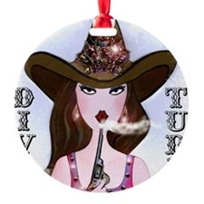 Diva of a Cowgirl Ornament