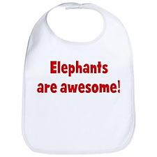 Elephants are awesome Bib
