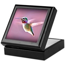 Male Calliope Hummingbird Keepsake Box