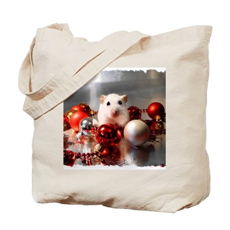 White dwarf hamster posing in Christmas s Tote Bag