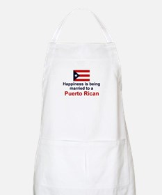 Happily Married To Puerto Rican BBQ Apron