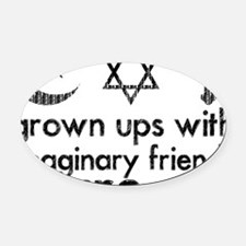 imaginary friends Oval Car Magnet