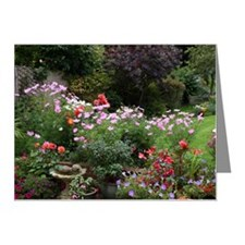 Colourful flowers in English Note Cards (Pk of 20)