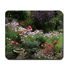 Colourful flowers in English garden in S Mousepad
