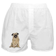 Fawn Pug Boxer Shorts