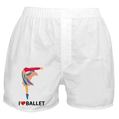 I Love Ballet Boxer Shorts