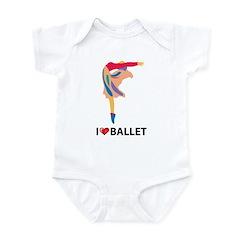 I Love Ballet Infant Bodysuit