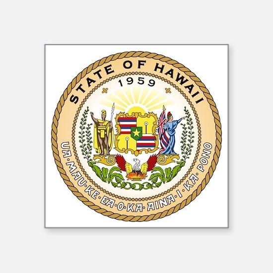 "Hawaii State Seal Square Sticker 3"" x 3"""