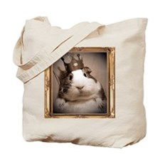 Victorian portrait of regal guinea pig Tote Bag