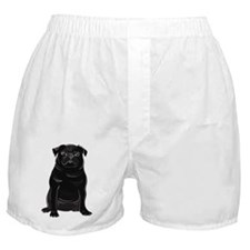 Black Pug Boxer Shorts
