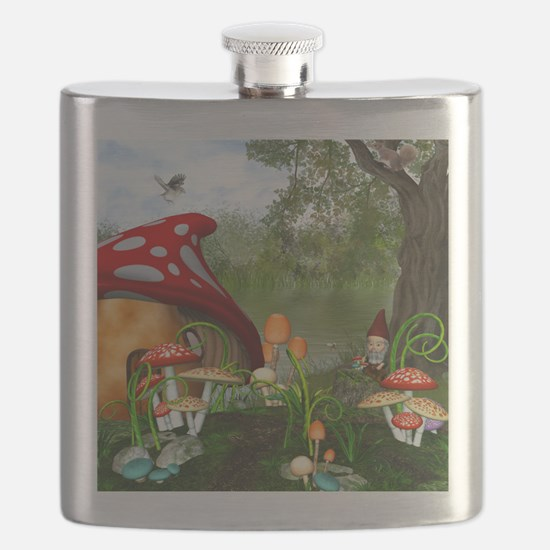 Dwarves Land Flask