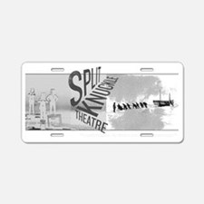 Split Knuckle Theatre Aluminum License Plate