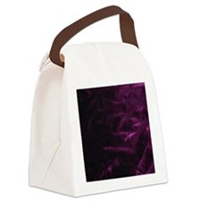 Purple Velvet Canvas Lunch Bag