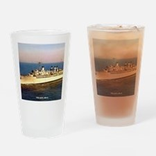 uss ajax note cards Drinking Glass