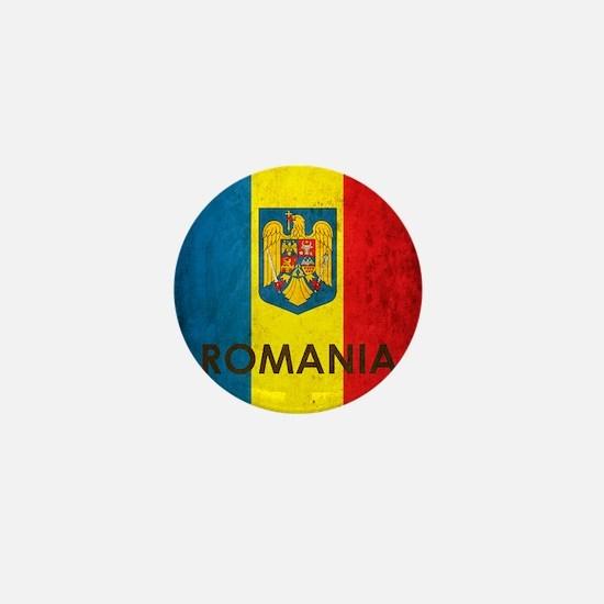 Romania Grunge Flag Mini Button