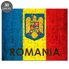 Romania Grunge Flag Puzzle