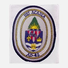 uss acadia patch transparent Throw Blanket