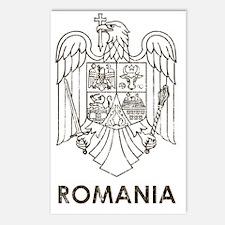 Vintage Romania Flag Postcards (Package of 8)