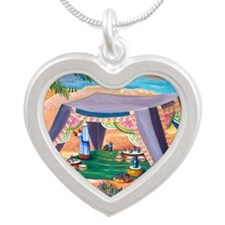 Abrahams Tent Silver Heart Necklace