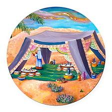 Abrahams Tent Round Car Magnet