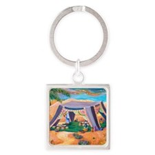 Abrahams Tent Square Keychain