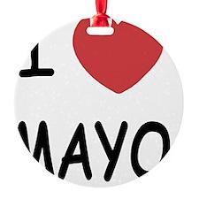 I heart mayo Ornament