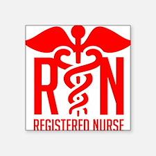 "RN - Registered Nurse Square Sticker 3"" x 3"""