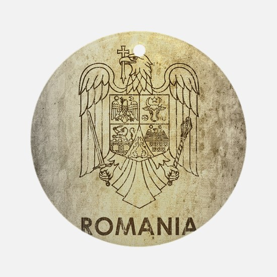 Vintage Romania Round Ornament