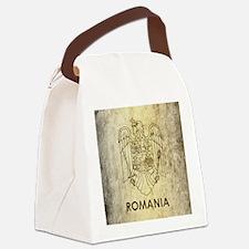 Vintage Romania Canvas Lunch Bag