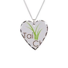 Tai Chi Growth 5 Necklace Heart Charm