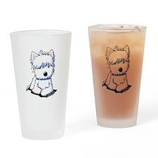 Sweetieface Westie Drinking Glass