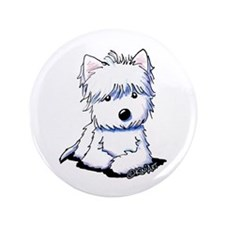 """Sweetieface Westie 3.5"""" Button"""