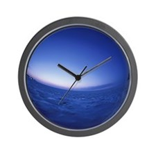 Fish-Eye Lens View of Drift Ice at Twil Wall Clock