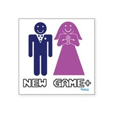 """New Game Plus Marriage Square Sticker 3"""" x 3"""""""