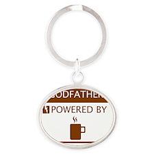 Godfather Powered by Coffee Oval Keychain