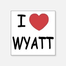 "I heart WYATT Square Sticker 3"" x 3"""