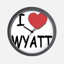 I heart WYATT Wall Clock