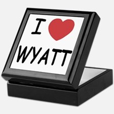 I heart WYATT Keepsake Box