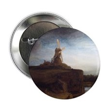 """Rembrandt The Mill 2.25"""" Button"""
