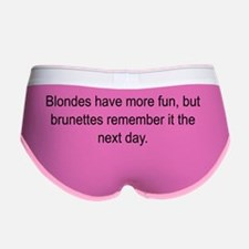Blonde vs Brunette Women's Boy Brief