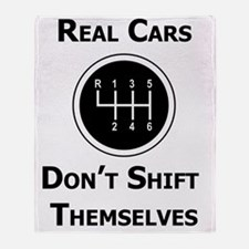 Real Cars Don't Shift Themselves Throw Blanket
