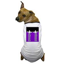 Cheer Black and Purple Dog T-Shirt