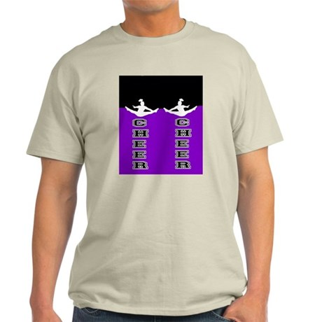 Cheer Black and Purple Light T-Shirt