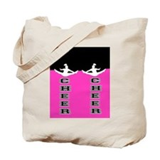 Cheer Black and Pink Tote Bag