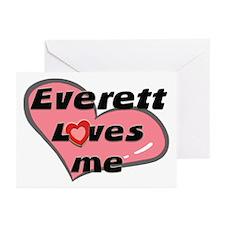 everett loves me  Greeting Cards (Pk of 10)